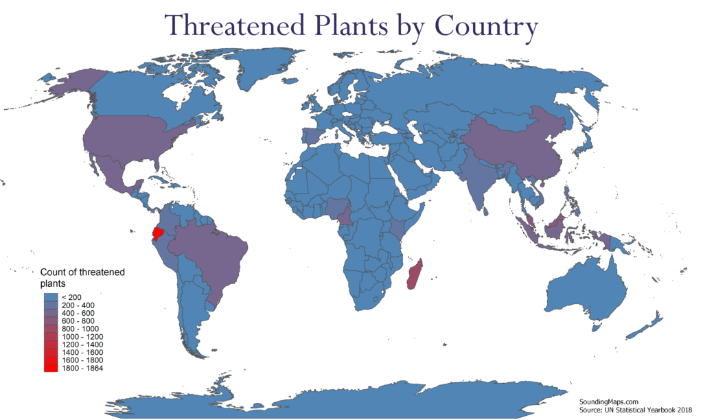 Map of Threatened Plants