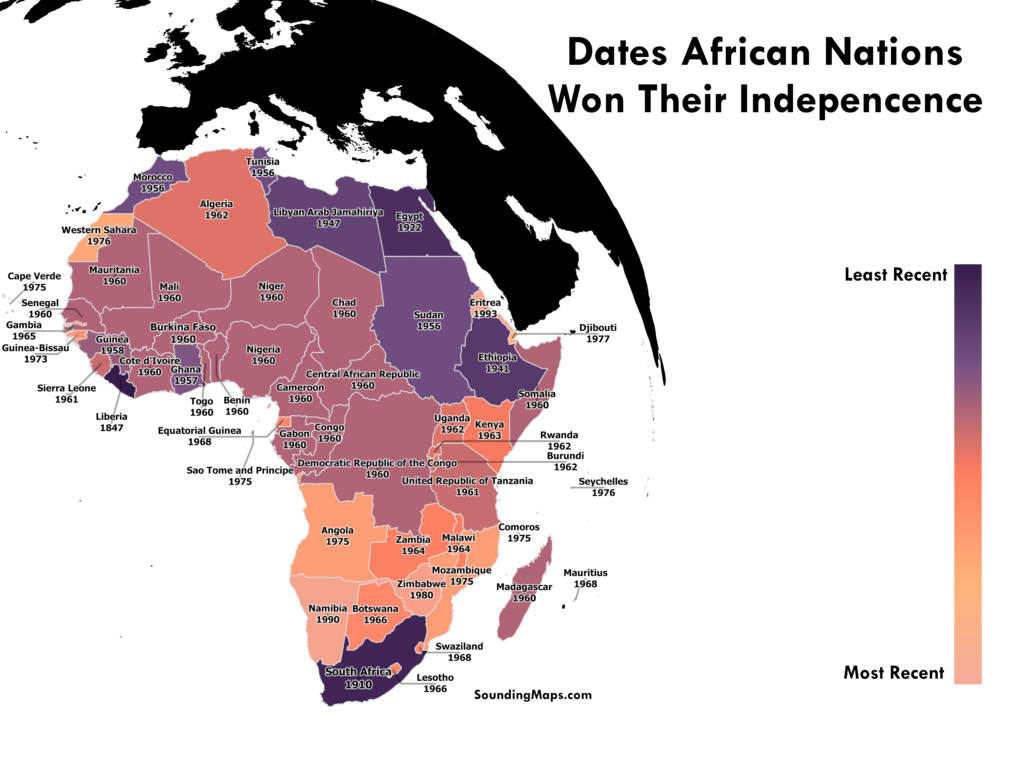 Dates of African Nations Independence