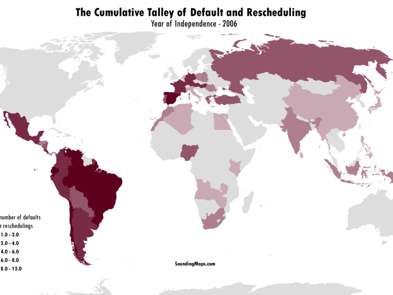 Countries debt default and rescheduling