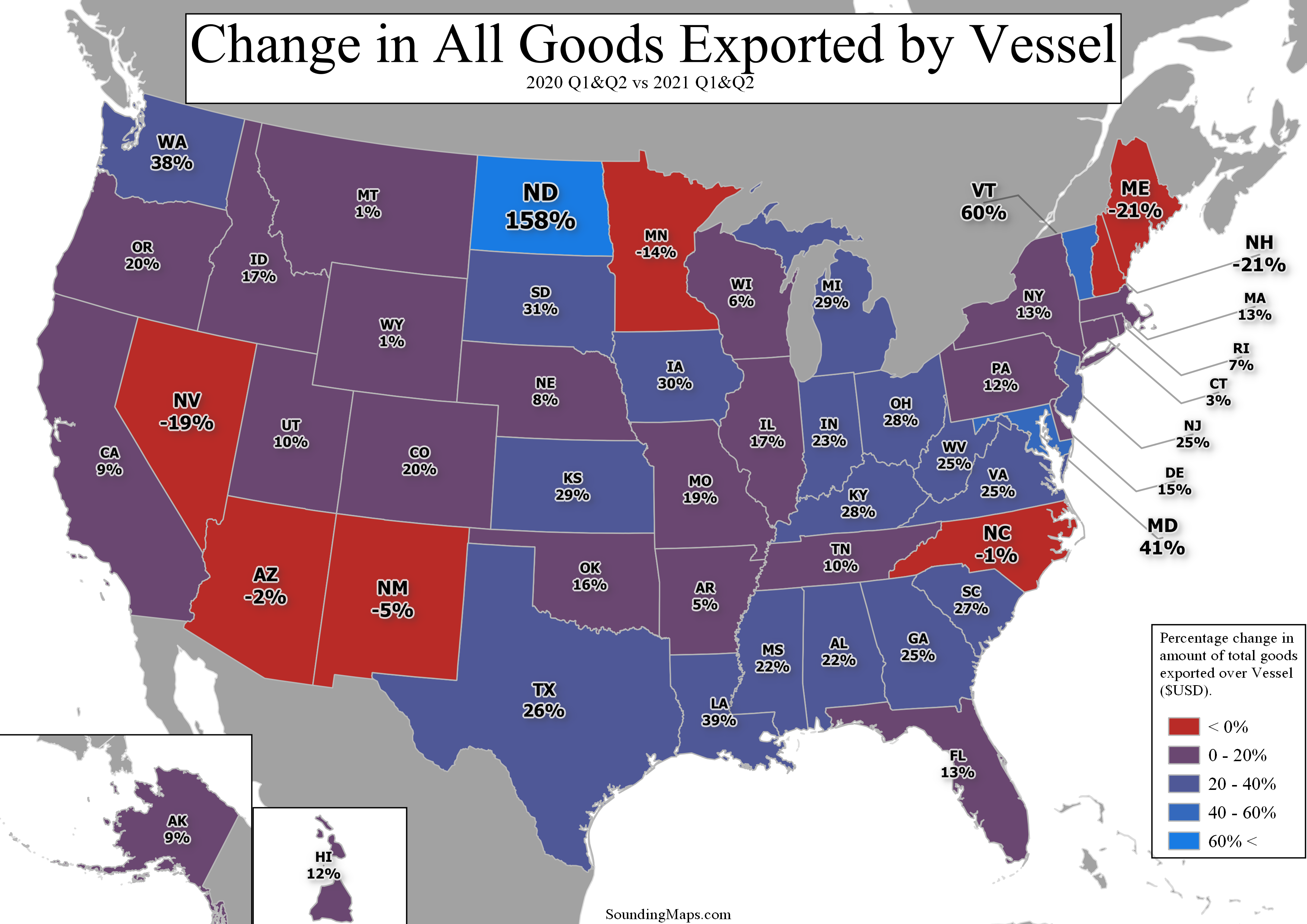 Vessel Exports by State